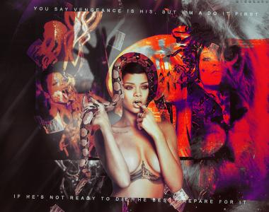 Random Words - Rihanna by aidakuku