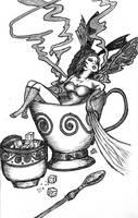 Burlesque Coffee Lady by gonzalexx1