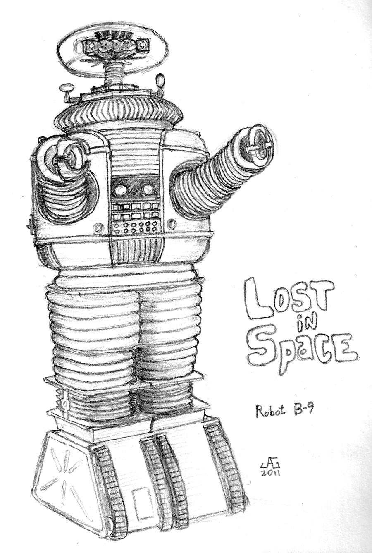 Robot B9 Lost in Space by gonzalexx1