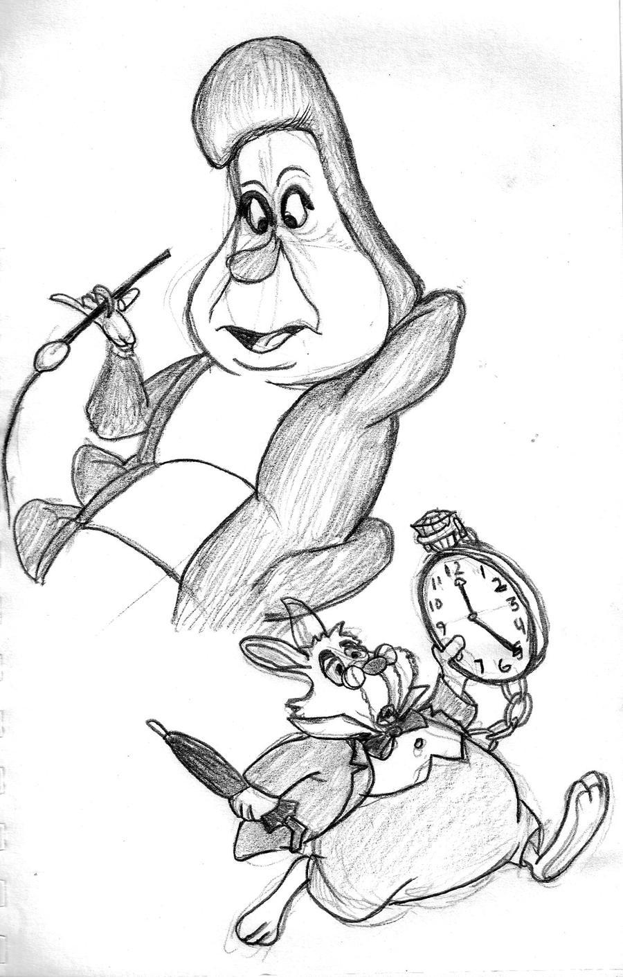 alice in wonderland sketch by gonzalexx1 on deviantart