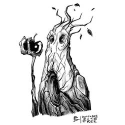 INKtober 14: TREE! by bepydaniele
