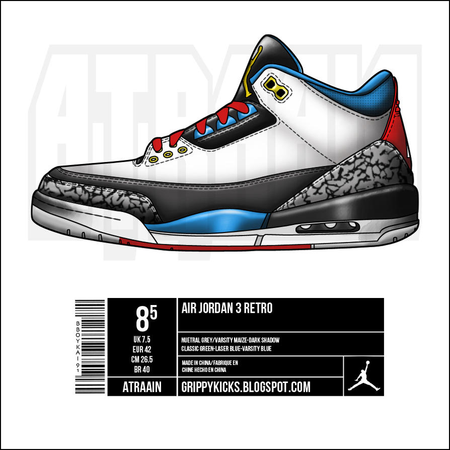 Jordan Shoe With Mvp On The Sole