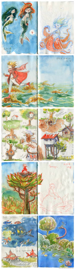 Sketches 21. On vacation by the sea.