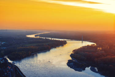 Danube meets sunset by Zoroo