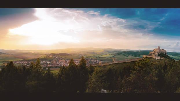 Panorama of Spis Castle