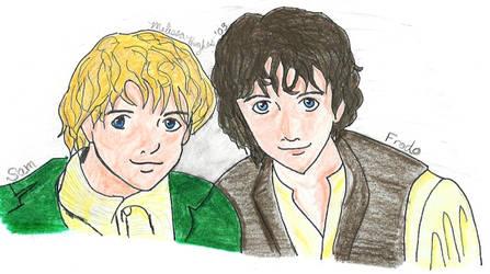 Sam and Frodo by nieregreenleaf