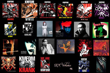 A wallpaper showign all my favorite albums,