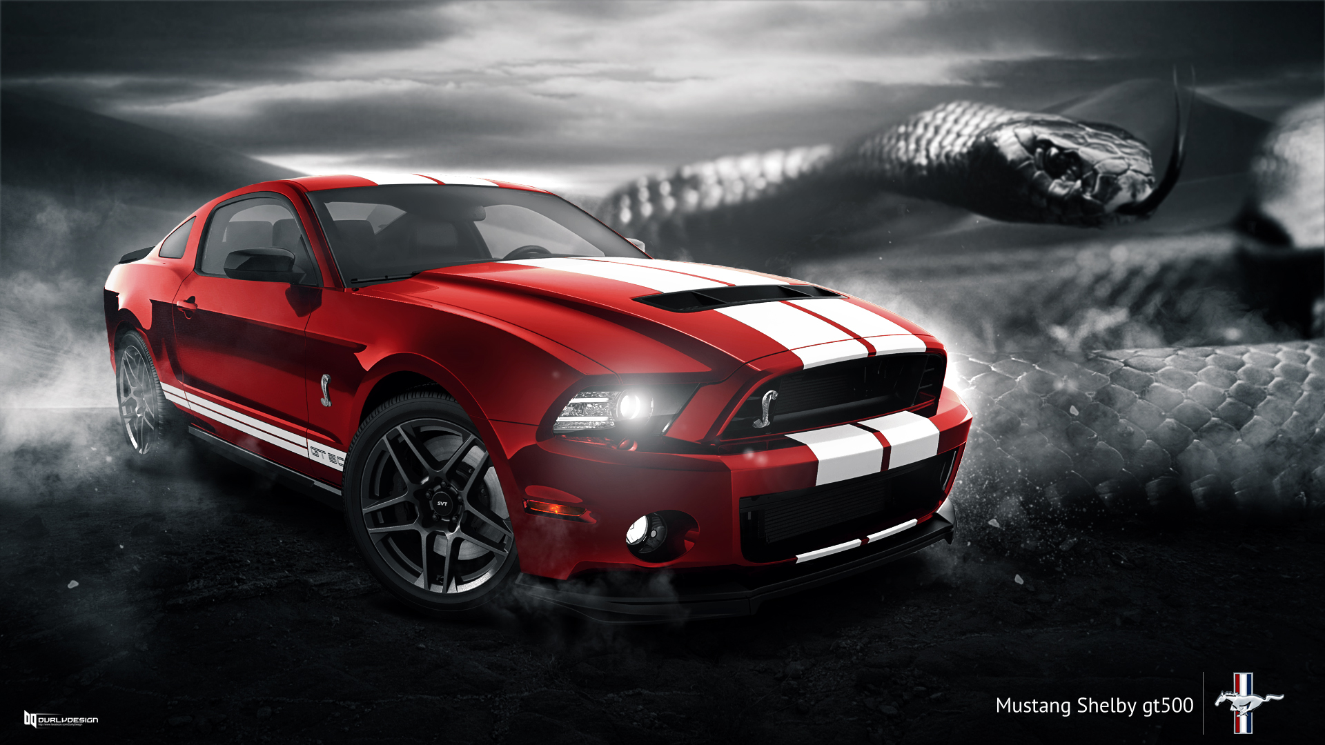 ford mustang shelby gt500 wallpaper by durly0505 on. Black Bedroom Furniture Sets. Home Design Ideas