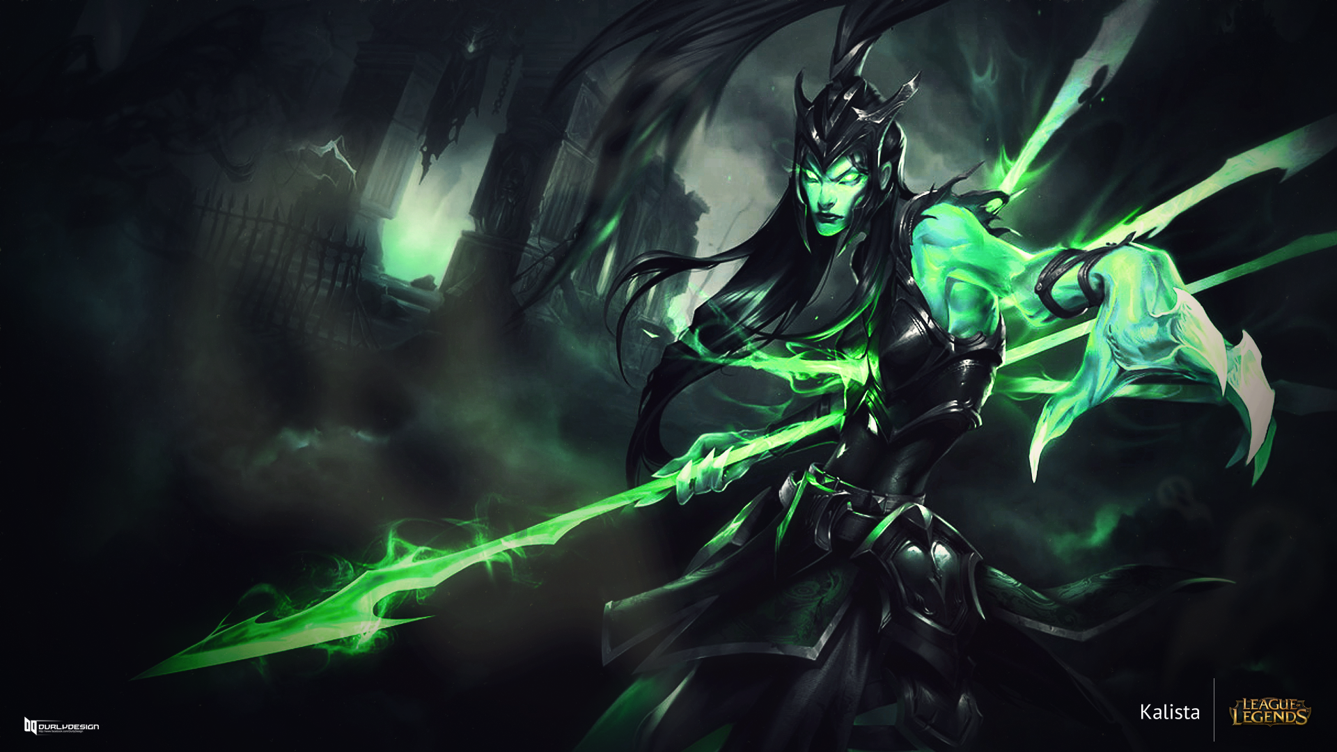 league of legends kalista wallpaper by durly0505 on