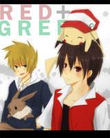 HGSS - RED + GREEN by graff-eisen