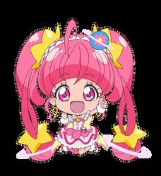Chibi Cure Star [Star Twinkle PreCure Render] by FFPreCureSpain