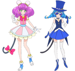 Mao and Blue Cat (PreCure Render)