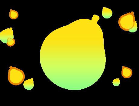 Cure Papaya Web Decoraton