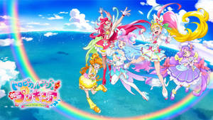 Tropical-Rouge! Precure [Wallpaper] (with logo)
