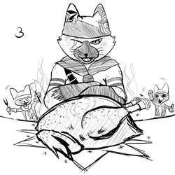 Inktober Day #3 - Mealtime by Laeshin