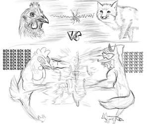 Inktober Day #5 and #6 - Standoff! by Laeshin