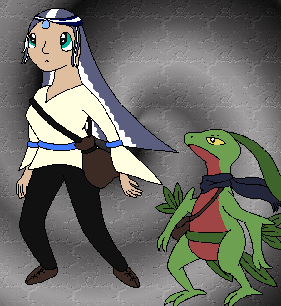 Sarah as a human and Grovyle Redone Sarah_as_a_human_redone_by_clgpic-d36rnsm