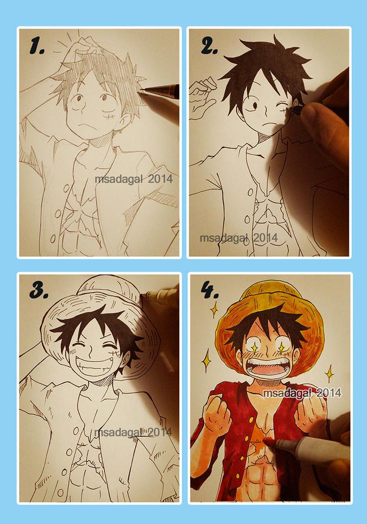 Luffy Art Meme by msadagal