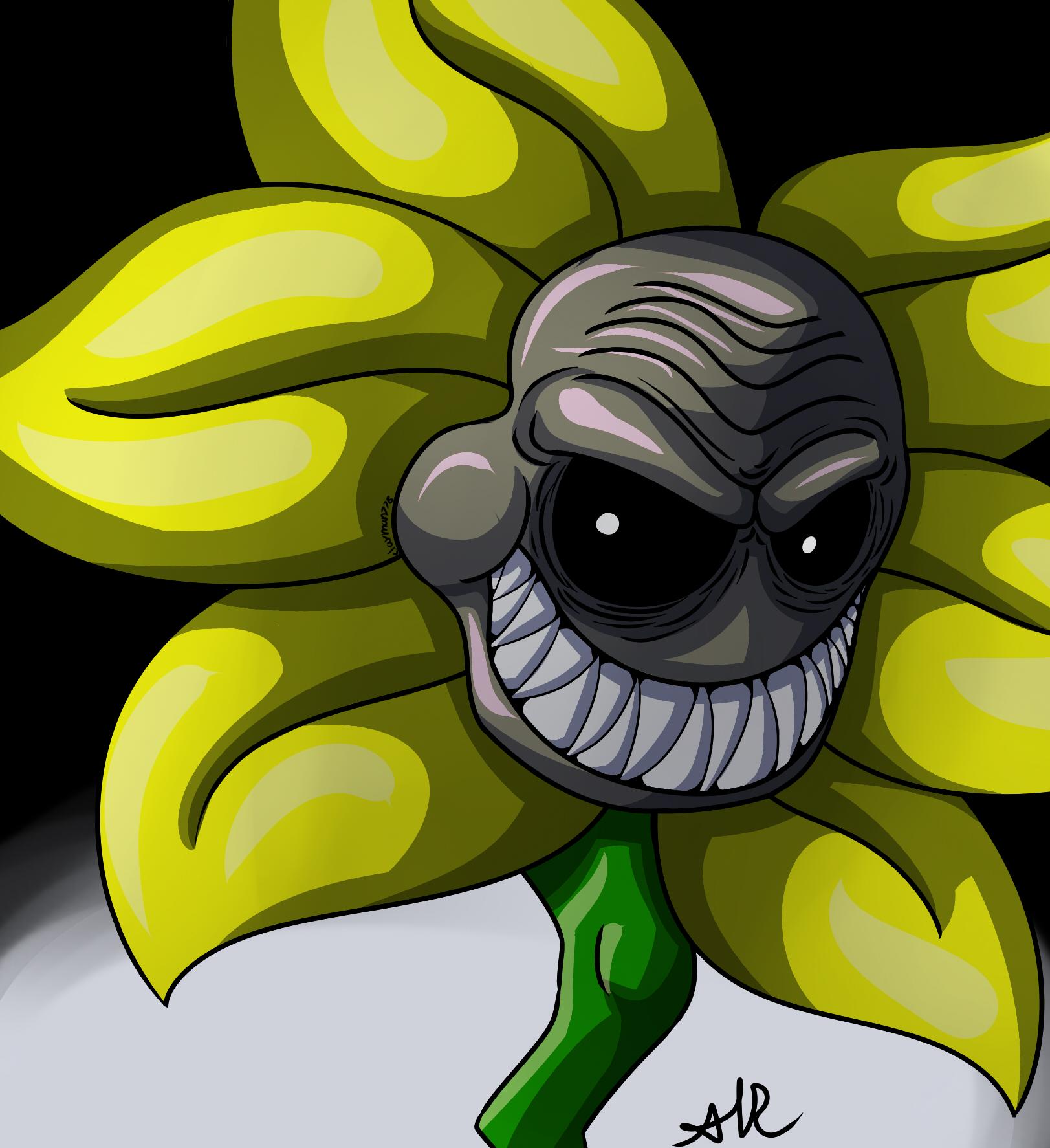 Flowey The Flower it s killed or be killed by clayman778 on DeviantArt
