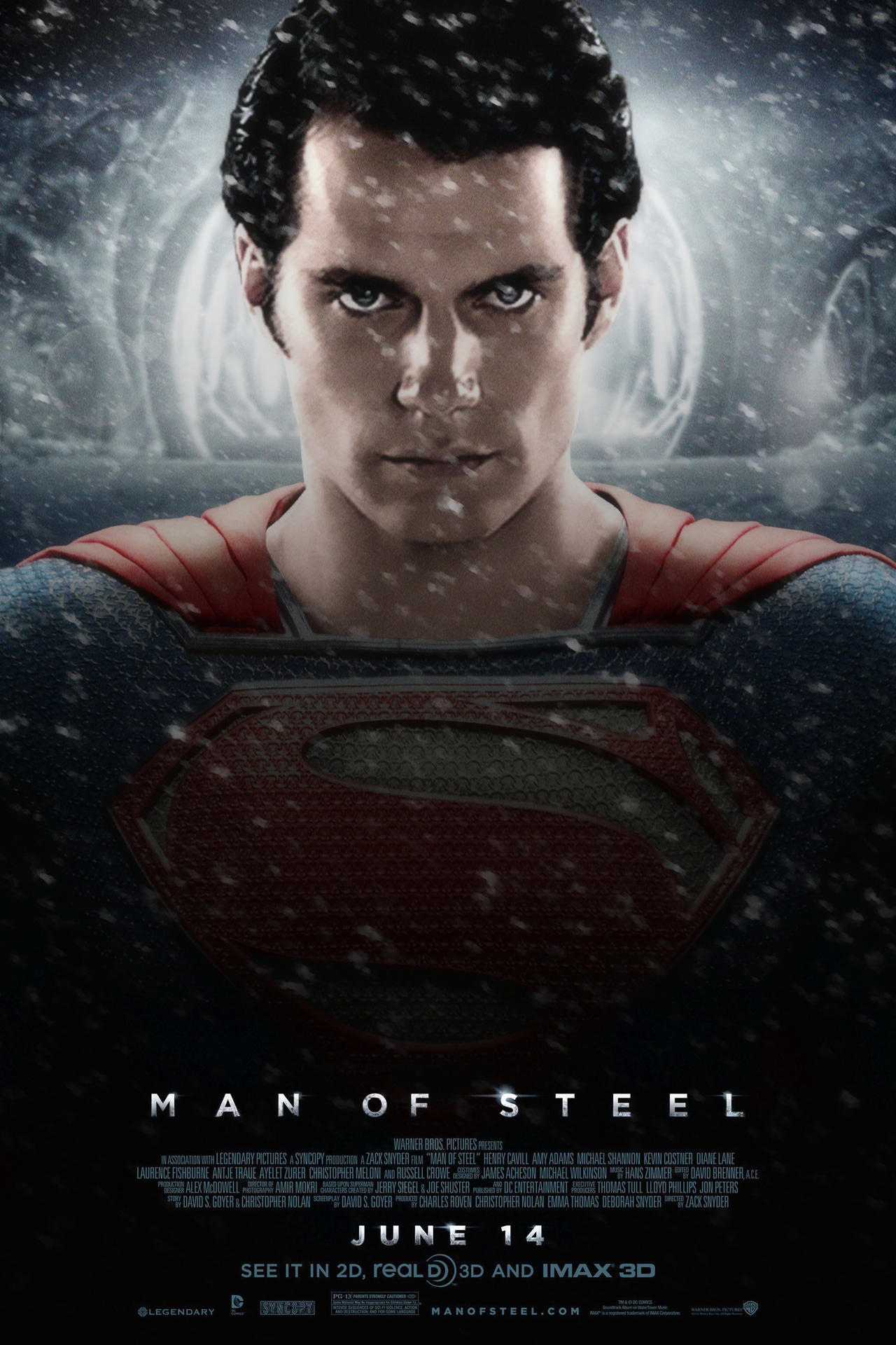 Man of Steel Poster #1 by MisterMerille on DeviantArt
