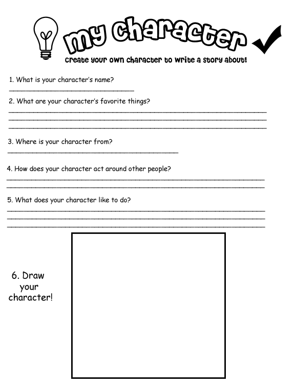 Printables Characterization Worksheet characterization worksheet character chart development on elementary