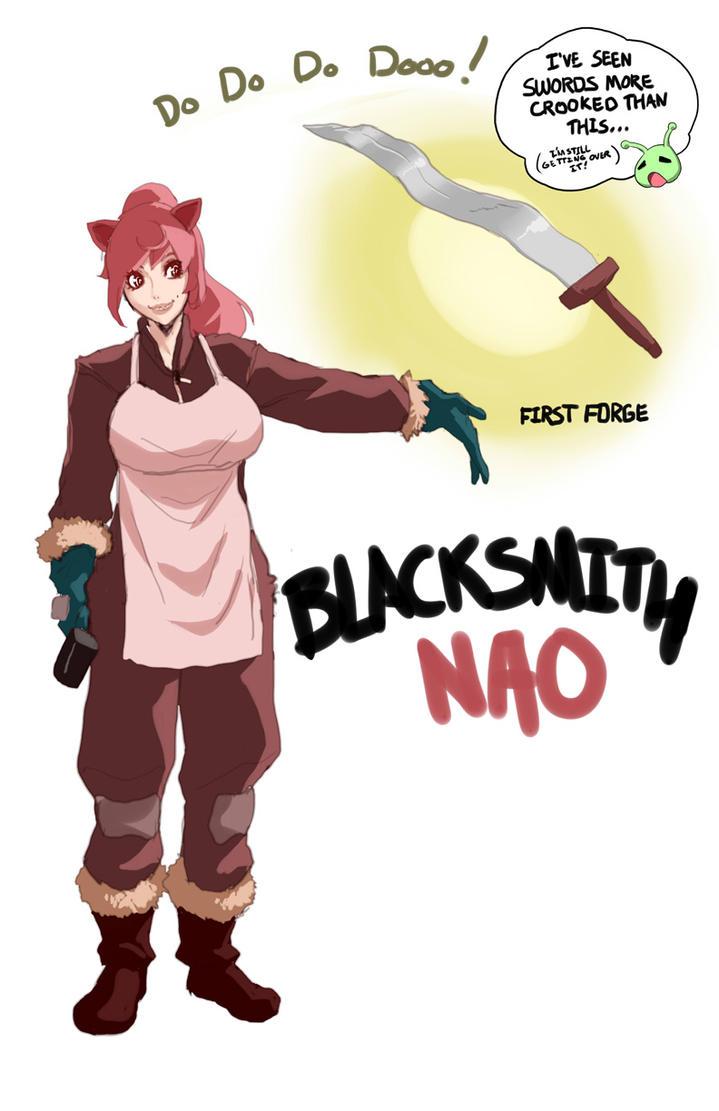 Blacksmith Nao by TentacleMonsterChu