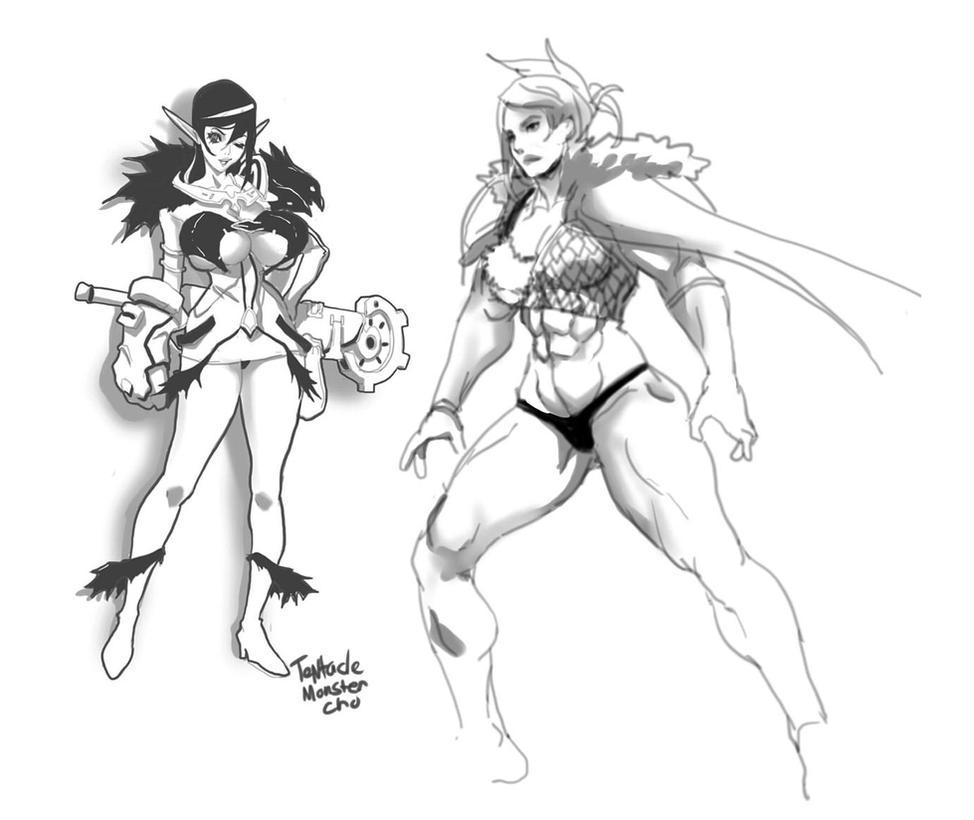 Sketches by TentacleMonsterChu