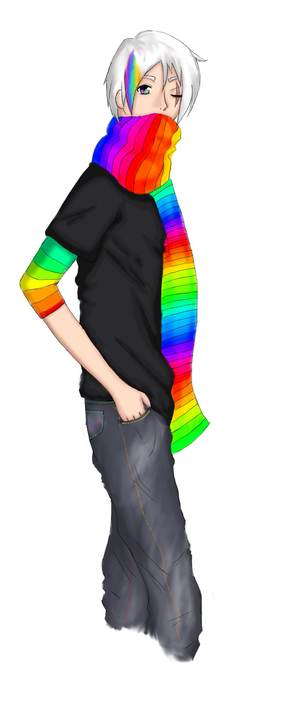 Rainbow Dude by muzzii