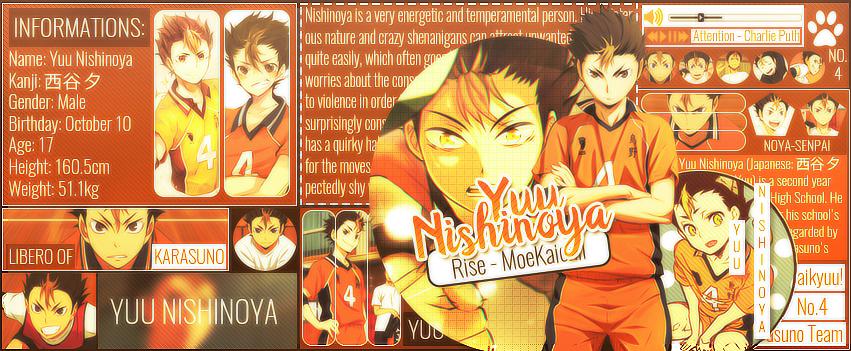[Iggy] Yuu Nishinoya by MoeKaichii