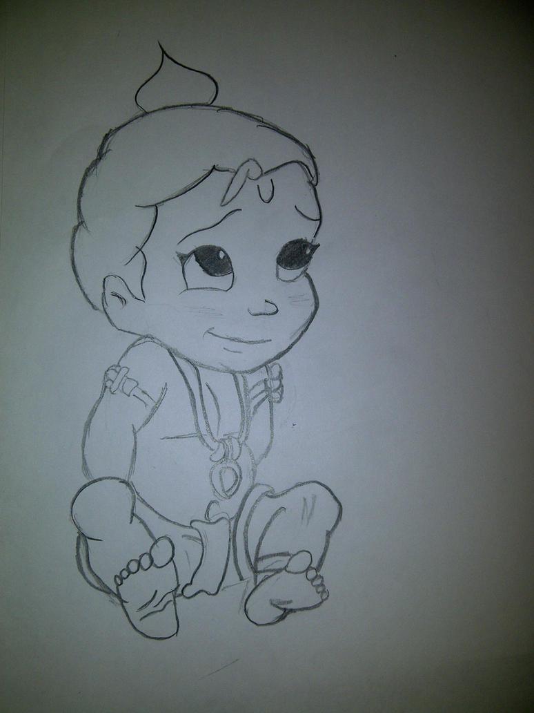 baby krishna by zdragongirlz on deviantart