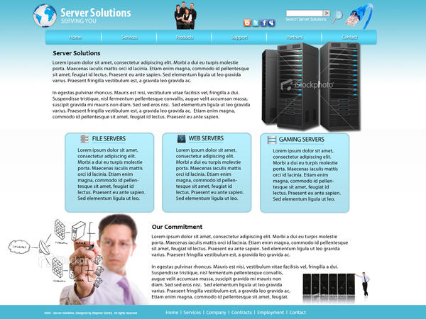 Server Website Mockup by dhrandy