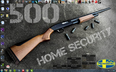 My Desktop with Mossberg 500 Wallpaper by dhrandy