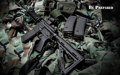 AR-15 Be Prepared Wallpaper by dhrandy