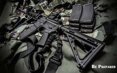 AR-15 Be Prepared Wallpaper 2 by dhrandy