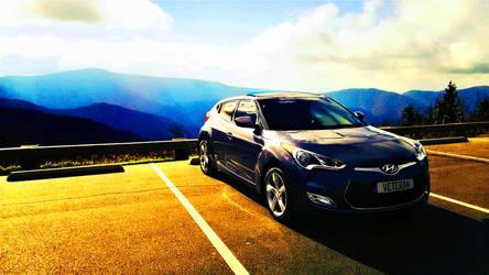 Hyundai Veloster NC Mountains by dhrandy