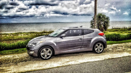 Hyundai Veloster at the Beach by dhrandy