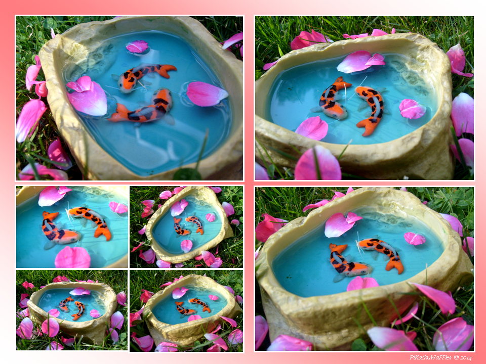 Miniature koi fish pond by pikachuwaffles on deviantart for Miniature koi fish