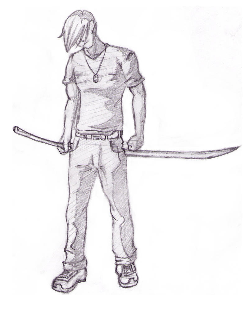 Anime Character Sketch By Justmircea On DeviantArt