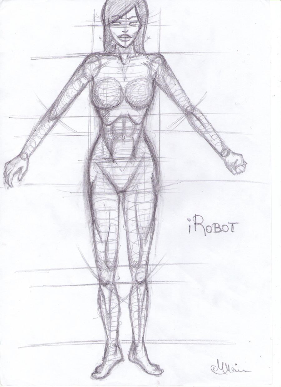 Fast female anatomy sketch by justmircea on DeviantArt