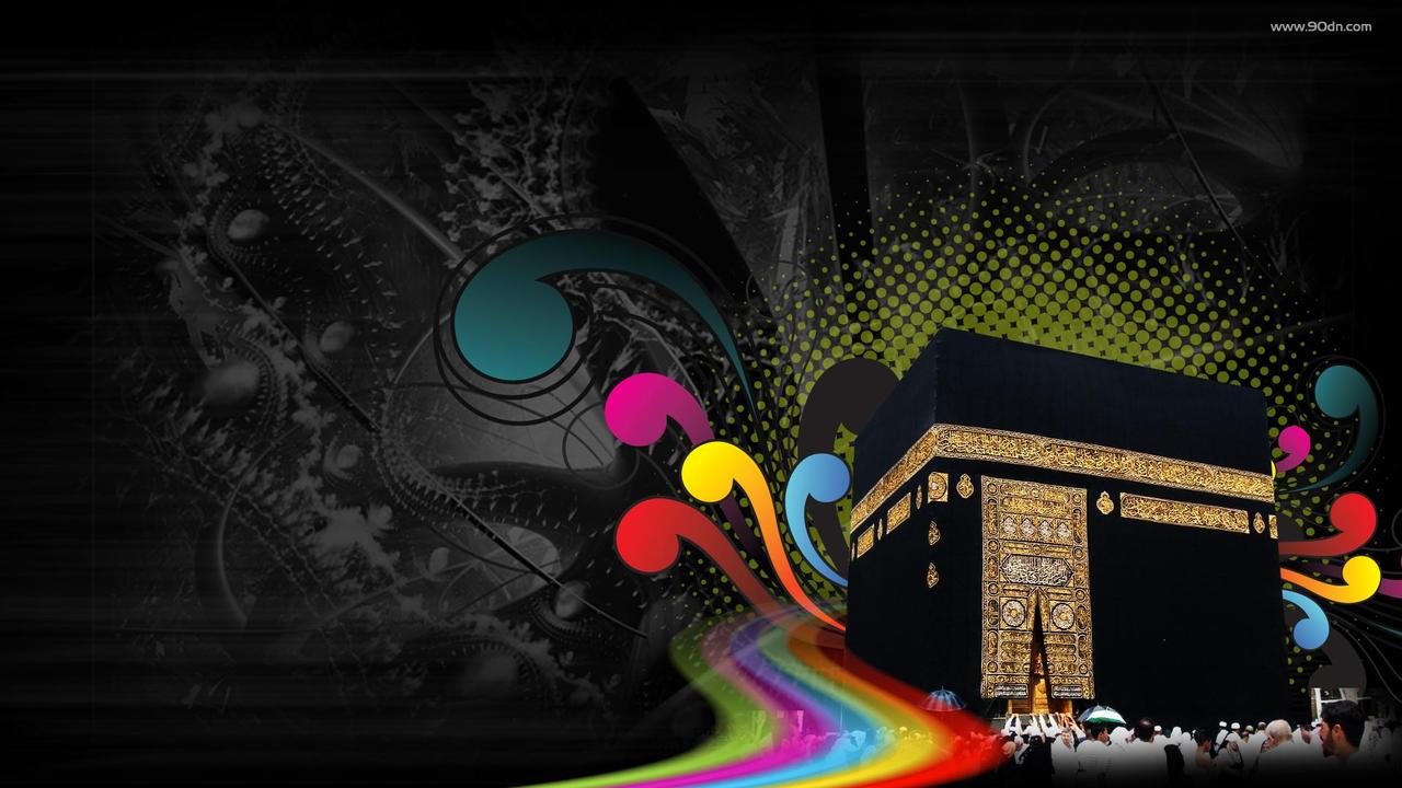 أجمل خلفيات شهر رمضان المبارك 2014 بجودة HD حصريا على منتديات إبداع Makkah_Abstract_color_Islamic_by_xtrememediaworx