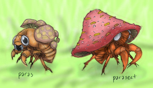 Paras and Parasect by RtRadke