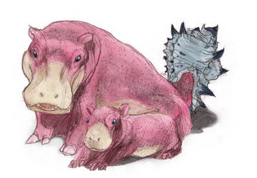 Slowpoke and Bro by RtRadke