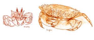 Krabby and Kingler by RtRadke