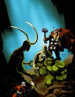 Mignola Avengers by RtRadke