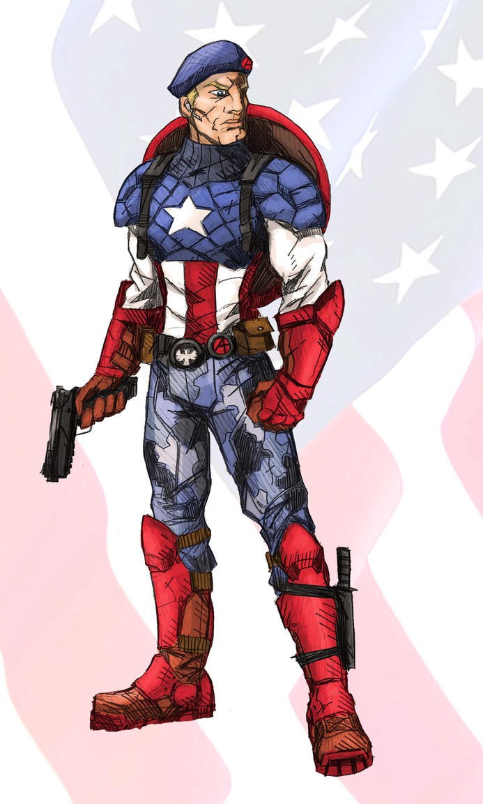 Captain America Redesign by RtRadke