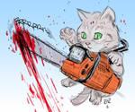 Chainsaw Cat by RtRadke