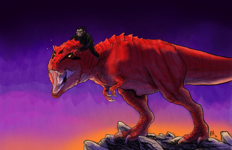 Devil Dinosaur and Moon Boy by RtRadke