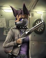 Miyu With A Gun by MDigamma1