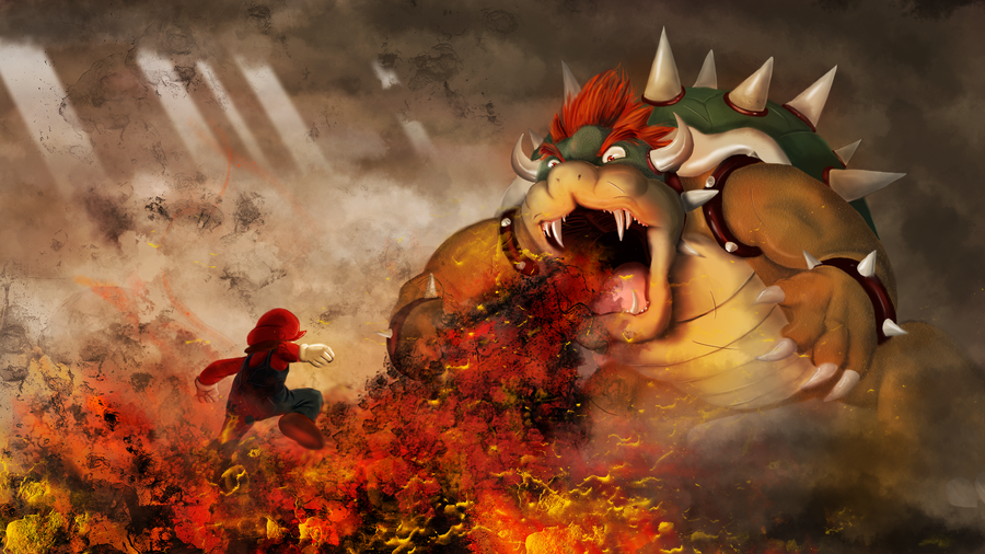 Mario vs Bowser by SolMatter