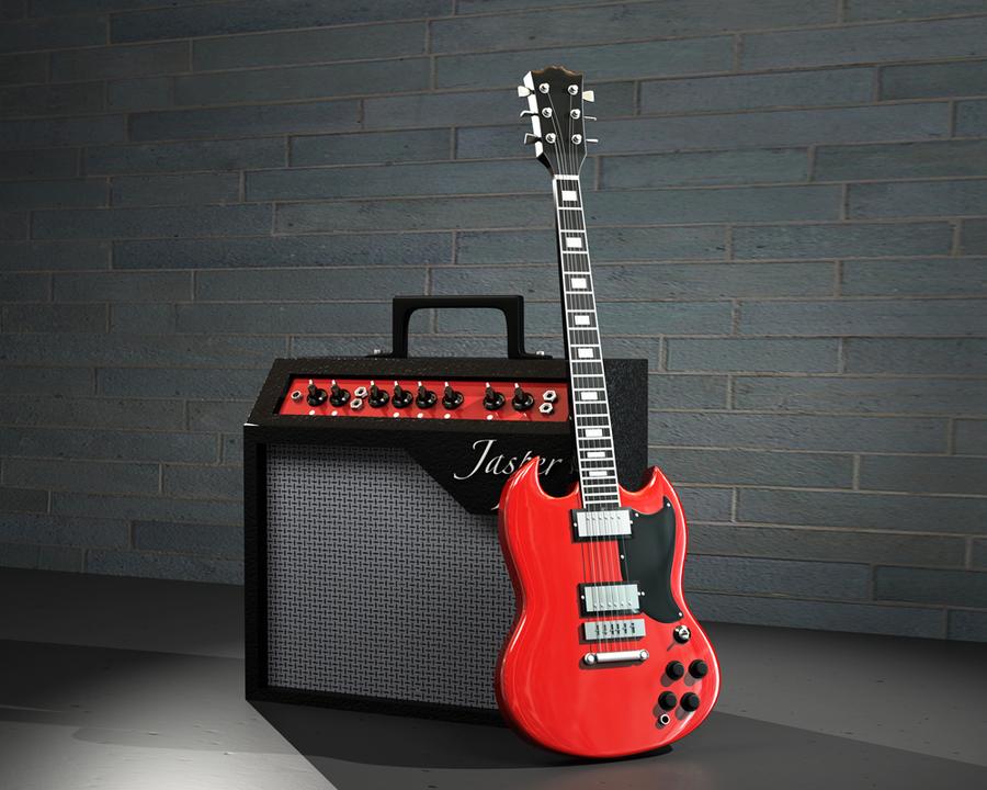 electric guitar amp by crimsondrgn on deviantart. Black Bedroom Furniture Sets. Home Design Ideas